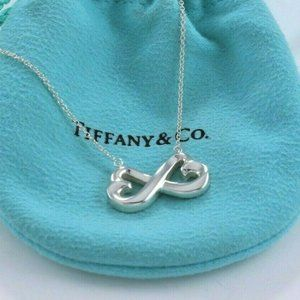 Tiffany & Co Infinity  925  Sliver  Necklace